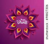 happy diwali. paper graphic of... | Shutterstock .eps vector #698827306