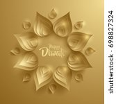 happy diwali. paper graphic of... | Shutterstock .eps vector #698827324