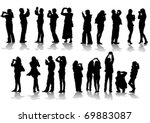 vector image of people... | Shutterstock .eps vector #69883087