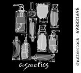 cosmetics for the body  face....   Shutterstock .eps vector #698831698