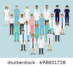 medical team. group doctors ... | Shutterstock . vector #698831728