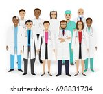 doctors  nurses and paramedics... | Shutterstock . vector #698831734
