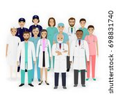 doctors  nurses and paramedics... | Shutterstock . vector #698831740