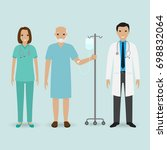 hospital staff concept. doctor  ... | Shutterstock . vector #698832064