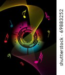 abstract black background with... | Shutterstock .eps vector #69883252