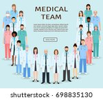 medical team. group doctors and ... | Shutterstock . vector #698835130