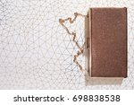 sparkly clutch bag  purse on... | Shutterstock . vector #698838538