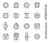 simple set of time related... | Shutterstock .eps vector #698839534