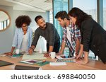 shot of a group of young... | Shutterstock . vector #698840050