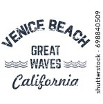 california typography for t... | Shutterstock .eps vector #698840509