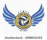 volleyball club logo  emblem ... | Shutterstock .eps vector #698842453