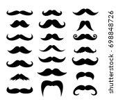 set of men mustaches for design ... | Shutterstock .eps vector #698848726