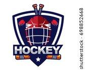 ice hockey badge  logo  emblem... | Shutterstock .eps vector #698852668