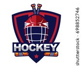 ice hockey badge  logo  emblem... | Shutterstock .eps vector #698852746