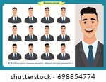 set of male facial emotions.... | Shutterstock .eps vector #698854774
