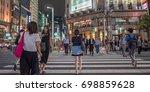 tokyo  japan   august 18th ... | Shutterstock . vector #698859628