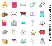 natural energy icons set.... | Shutterstock .eps vector #698862568