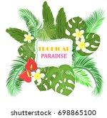 vector postcard invitation for...   Shutterstock .eps vector #698865100