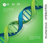 dna molecule cell vector... | Shutterstock .eps vector #698865904