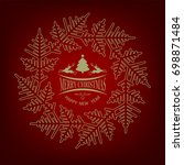 christmas red design with... | Shutterstock .eps vector #698871484