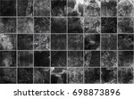 Stock photo slate tile ceramic seamless texture square black map for d graphics 698873896