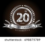 20th anniversary celebrating... | Shutterstock .eps vector #698875789