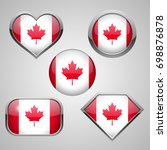canada flag icon theme. vector... | Shutterstock .eps vector #698876878