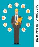 workplace safety checklist | Shutterstock .eps vector #698878840