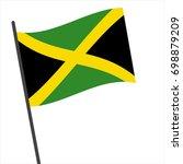 flag of jamaica   jamaica flag... | Shutterstock .eps vector #698879209