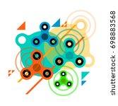 fidget spinner abstract ... | Shutterstock .eps vector #698883568