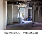 office preparing for moving.... | Shutterstock . vector #698885230