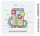 application development. vector ... | Shutterstock .eps vector #698885698