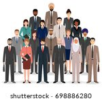 group of business people. set... | Shutterstock . vector #698886280