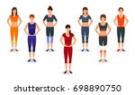 fitness people in sports wear.... | Shutterstock . vector #698890750