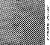 grunge halftone black and white.... | Shutterstock . vector #698896594