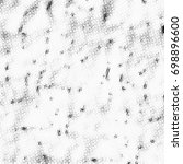grunge halftone black and white.... | Shutterstock . vector #698896600