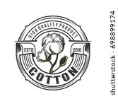 badge cotton illustration logo... | Shutterstock .eps vector #698899174
