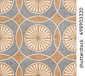 floor tiles   porcelain ceramic ... | Shutterstock . vector #698903320