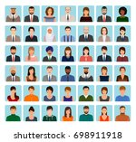 avatars characters set of... | Shutterstock . vector #698911918