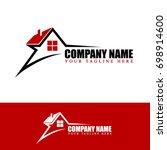 Stock vector star for real estate logo 698914600