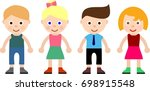 young kids icon  children logo  ... | Shutterstock .eps vector #698915548