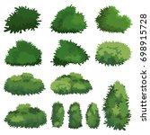 natural bush vector | Shutterstock .eps vector #698915728