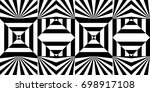 seamless pattern with black... | Shutterstock .eps vector #698917108