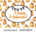card template  oval frame on... | Shutterstock . vector #698918899