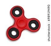 fidget spinner. hand rotation... | Shutterstock . vector #698919490