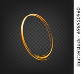vector gold circle line light... | Shutterstock .eps vector #698920960
