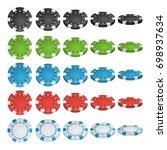poker chips vector. 3d... | Shutterstock .eps vector #698937634