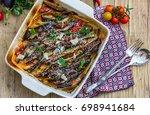 vegetable ratatouille  ... | Shutterstock . vector #698941684