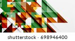 triangle pattern design... | Shutterstock . vector #698946400