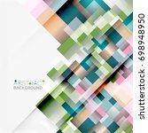 abstract blocks template design ... | Shutterstock . vector #698948950
